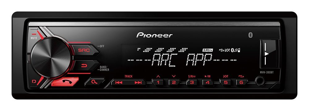 PIONEER 1-DIN Autoradio »MVH-390BT«