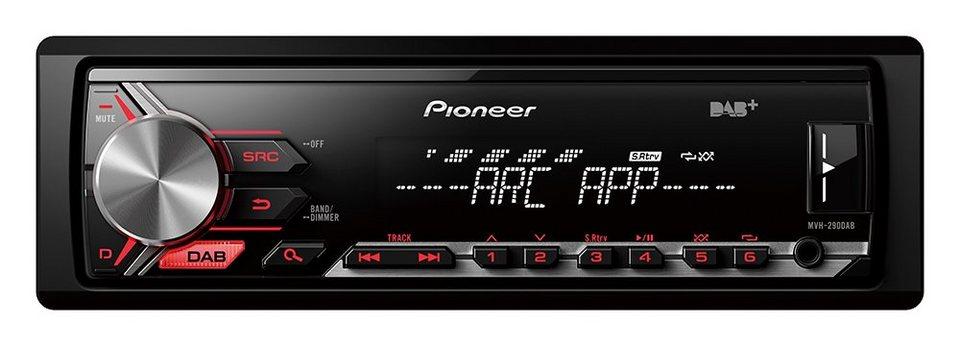 PIONEER 1-DIN Autoradio »MVH-290DAB« in schwarz