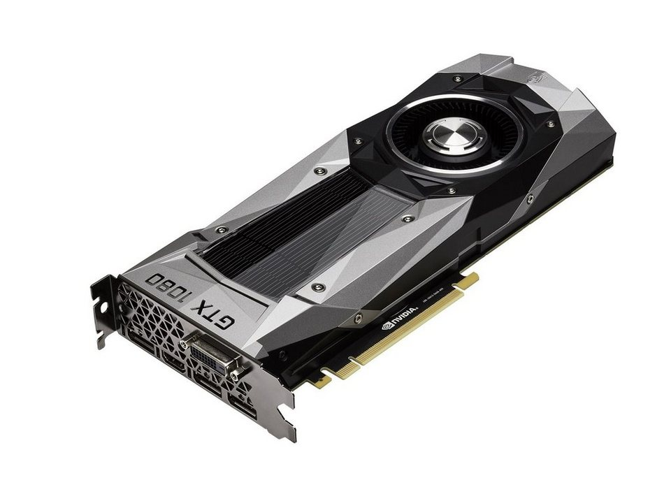 PNY Gaming-Grafikkarte »GeForce GTX 1080 Founders Edition (8GB)« in grau