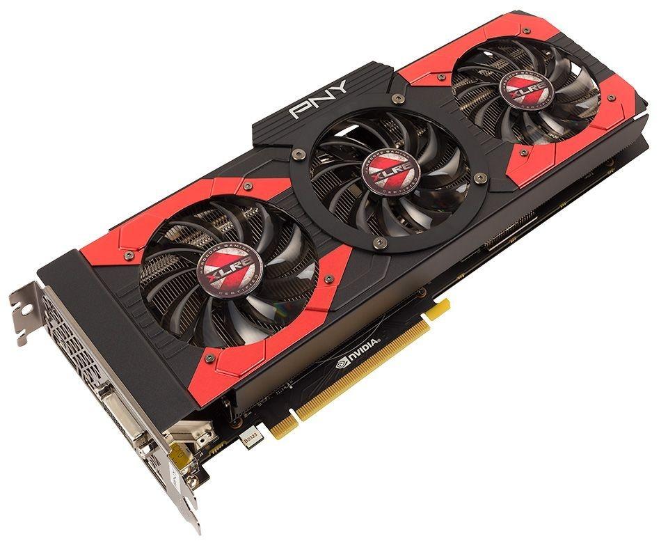 PNY Gaming-Grafikkarte »GeForce GTX 1080 XLR8 OC (8 GB)« in schwarz