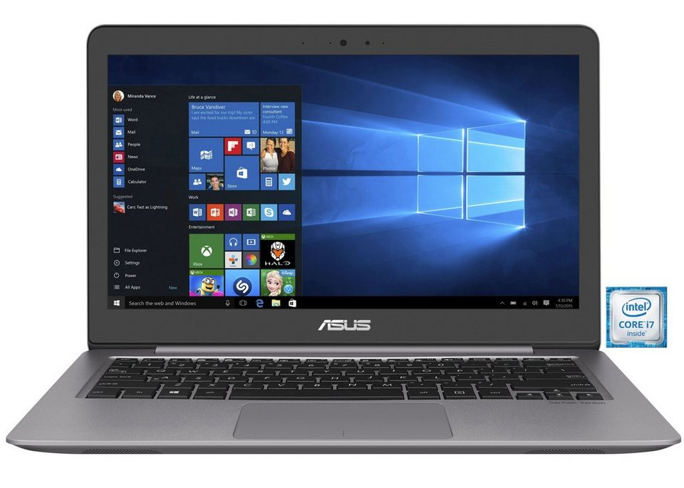 "ASUS UX310UA-FC087T Notebook »Intel Core i7, 33,7cm (13,3""), 256 GB SSD, 8 GB« in grau"