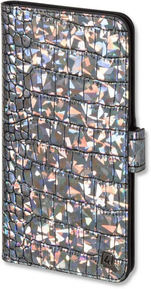 "4Smarts Handytasche »UltiMAG Book NORWALK 13,21cm (5.2"")« in Mehrfarbig-Silber"