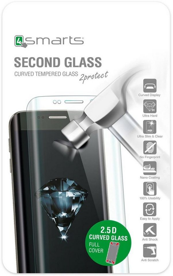 4Smarts Folie »Second Glass Curved 2.5D für Huawei P9« in Transparent-Schwarz