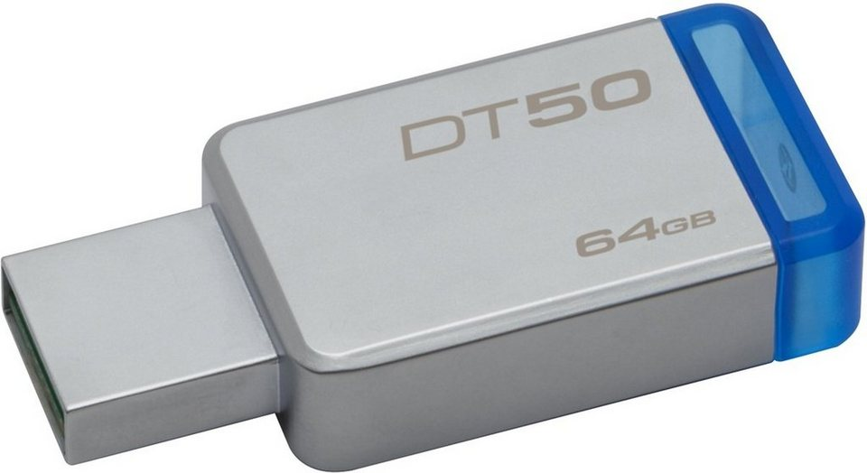 Kingston USB-Stick »Data Traveler 50, USB 3.0, 64GB« in Silber-Blau