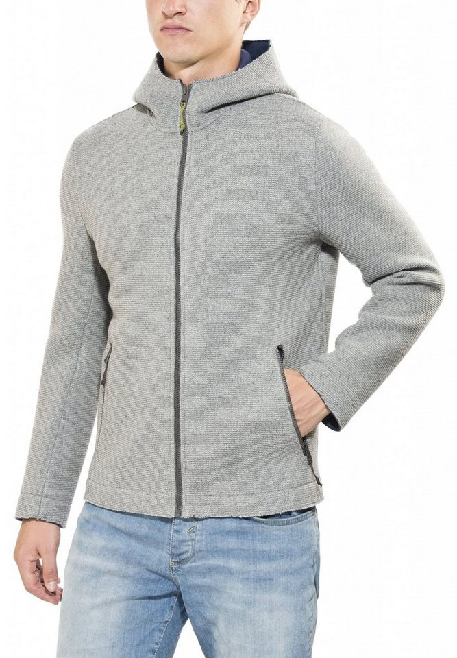 Salewa Outdoorjacke »Sarner 2L WO Full Zip Hoody Men« in grau