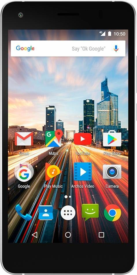 Archos 50f Helium Smartphone, 12,7 cm (5 Zoll) Display, LTE (4G), Android 6.0 (Marshmallow)