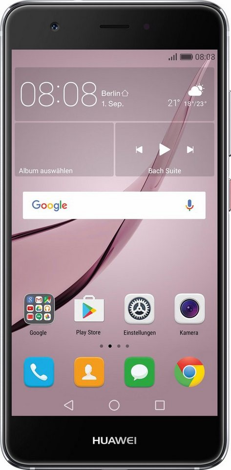 Huawei Nova Smartphone, 12,7 cm (5 Zoll) Display, LTE (4G), Android 6.0 (Marshmallow) in grau