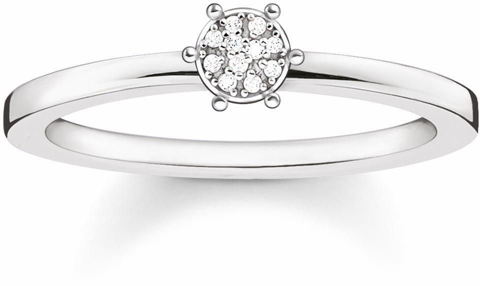 Thomas Sabo Fingerring »D_TR0012-725-14« mit Diamanten in Silber 925-silberfarben-weiß
