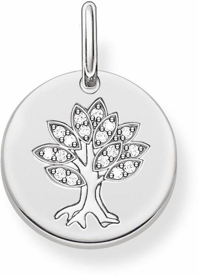 Thomas Sabo Kettenanhänger »Baum, LBPE0008-051-14« mit Zirkonia in Silber 925-silberfarben-weiß