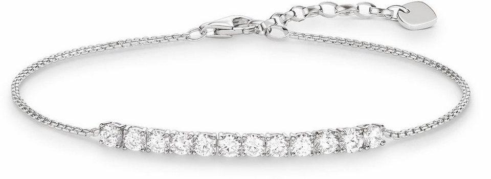 Thomas Sabo Armband »A1540-051-14-L19,5v« mit Zirkonia in Silber 925-silberfarben-weiß