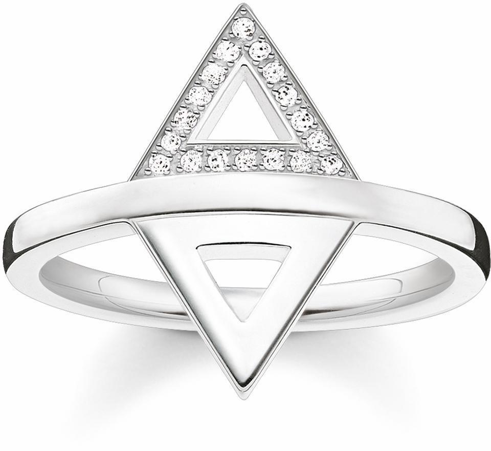 Thomas Sabo Fingerring »D_TR0019-725-14« mit Diamanten in Silber 925-silberfarben