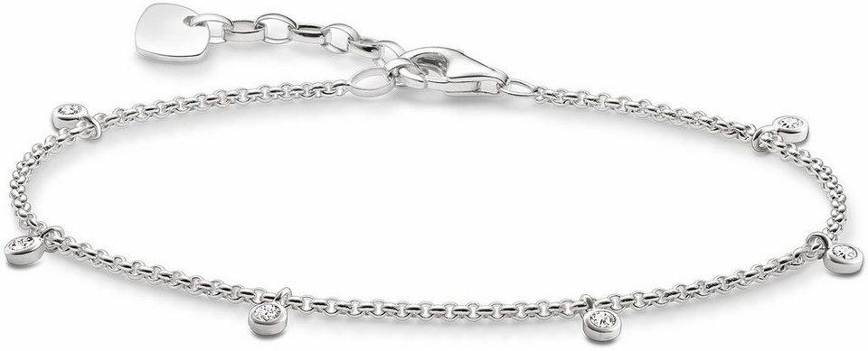 Thomas Sabo Armband »A1537-051-14-L19,5v« mit Zirkonia in Silber 925-silberfarben-weiß