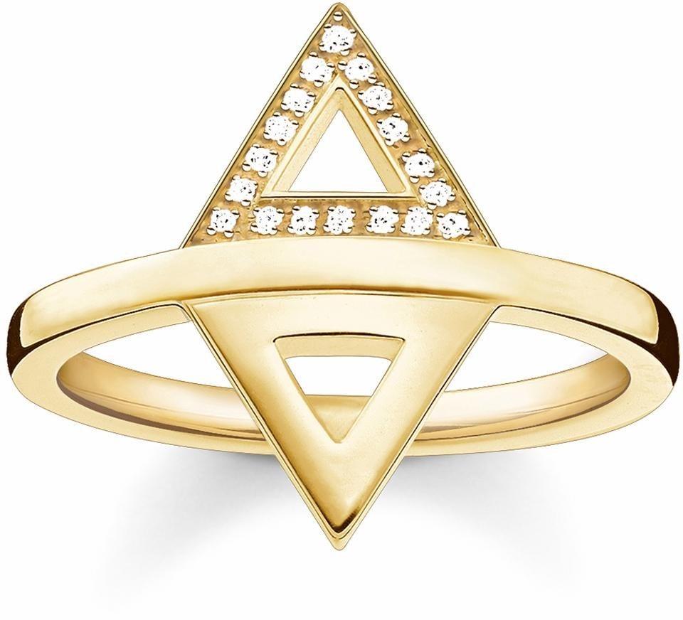 Thomas Sabo Fingerring »D_TR0019-725-924« mit Diamanten in Silber 925-goldfarben