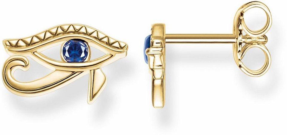 Thomas Sabo Paar Ohrstecker »Auge, H1918-922-32« mit Zirkonia und synthetischem Spinell in Silber 925-silberfarben-weiß-blau