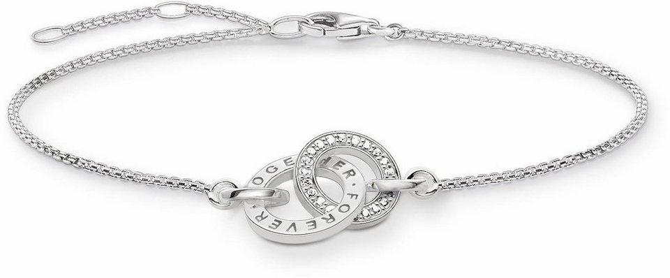 Thomas Sabo Armband »A1551-051-14-L19,5v« mit Zirkonia in Silber 925-silberfarben-weiß