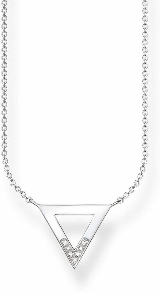 Thomas Sabo Kette mit Anhänger »D_KE0007-725-14-L45v« mit Diamanten in Silber 925-silberfarben-weiß