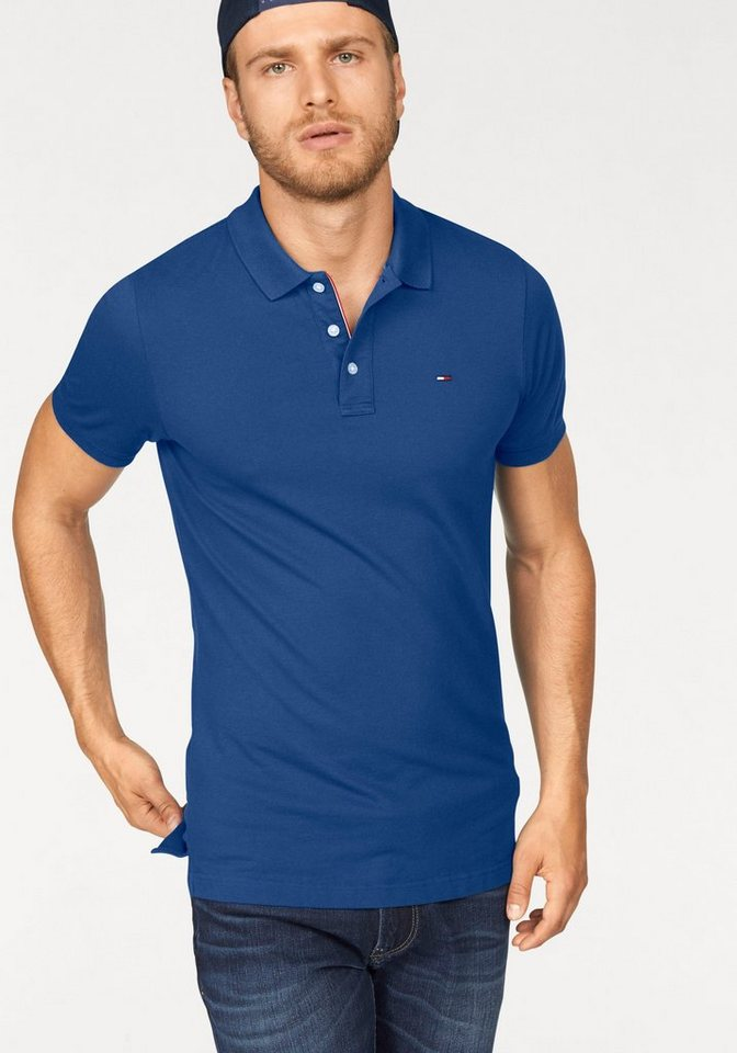Hilfiger Denim Poloshirt »THDM BASIC POLO S/S 1« in royalblau