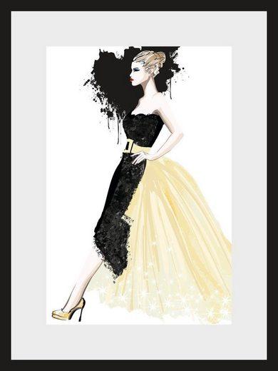 Leonique Bild »Skizze Dress«, 30/40 cm, gerahmt