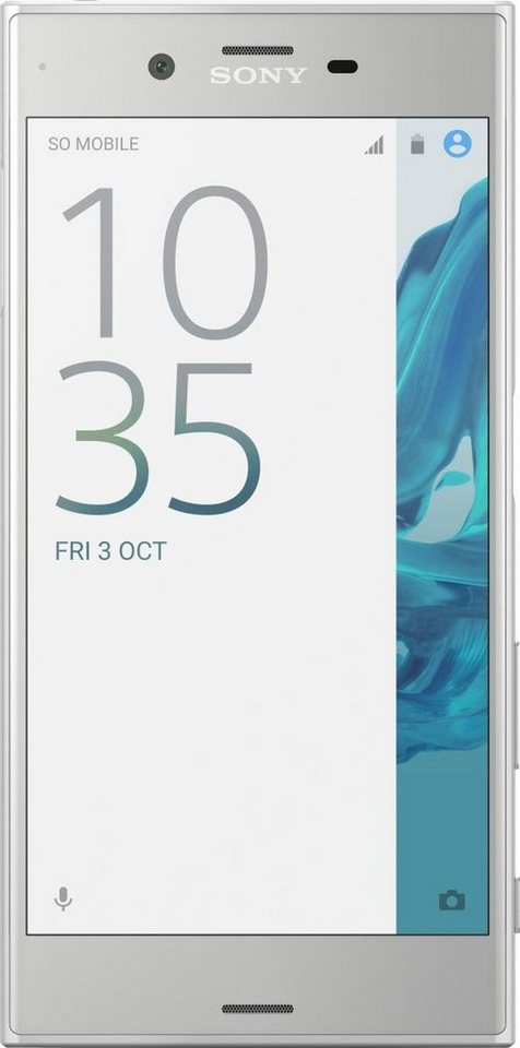 Sony Xperia XZ Smartphone, 13,2 cm (5,2 Zoll) Display, LTE (4G), Android 6.0 (Marshmallow) in silver