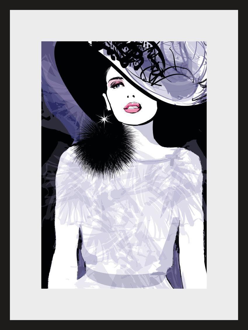 Home affaire, Rahmenbild, »Skizze Glamour«, 30/40 cm