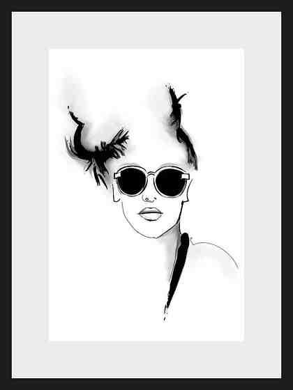 Home affaire, Rahmenbild, »Skizze Sunglasses«, 30/40 cm