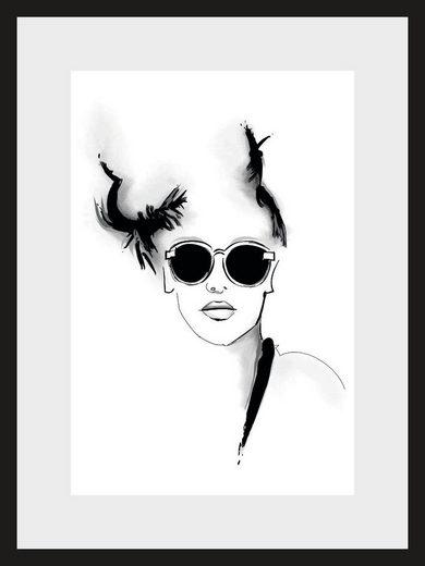 Leonique Bild »Skizze Sunglasses«, Gesicht, Abstrakt, 30/40 cm, gerahmt