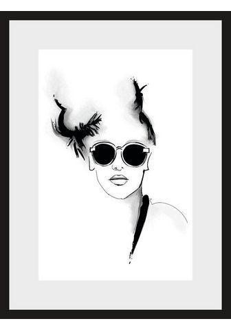 LEONIQUE Paveikslas »Skizze Sunglasses« Gesicht...