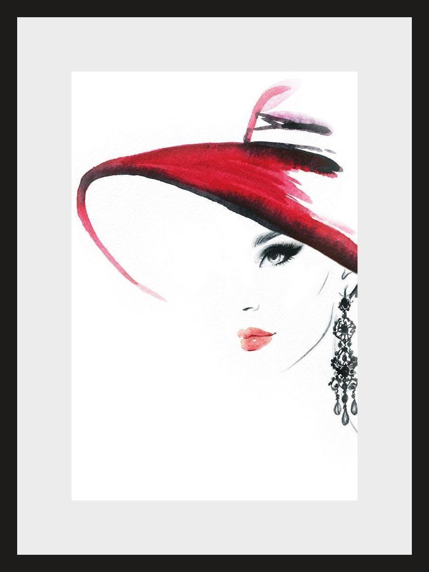 Home affaire, Rahmenbild, »Skizze Hat«, 30/40 cm
