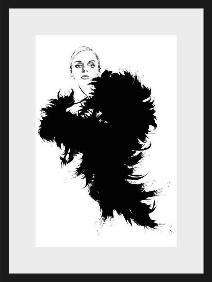 Home affaire, Rahmenbild, »Skizze Hollywood 2«, 30/40 cm in schwarz/weiß