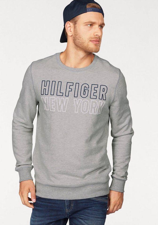 Hilfiger Denim Sweatshirt »THDM BASIC CN HKNIT L/S 10« in hellgrau-meliert
