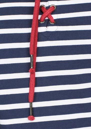 KangaROOS Langarmshirt, mit Schnürung am Ausschnitt
