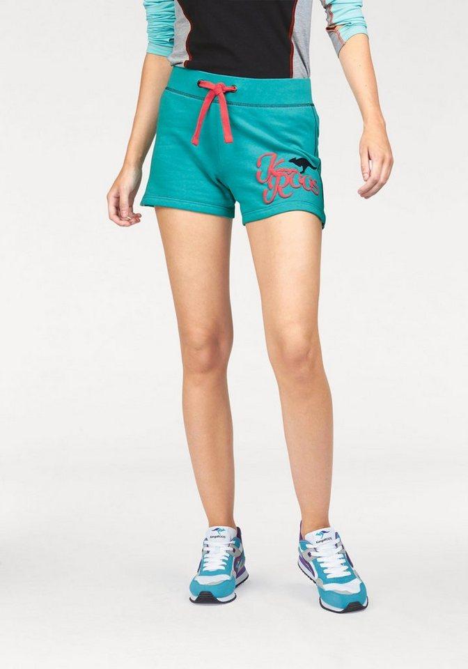 KangaROOS Shorts mit Print in ocean-rot