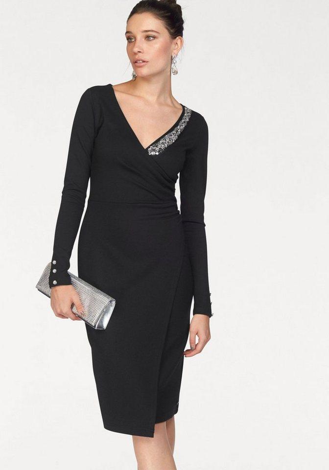 Abendkleid schwarz jersey