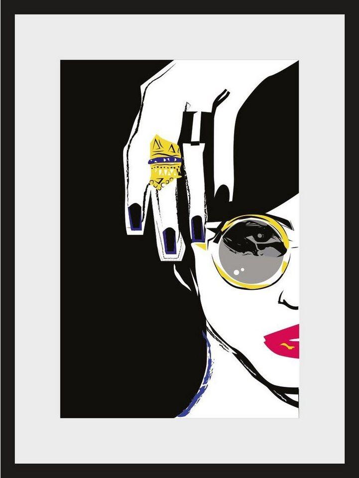 Home affaire, Rahmenbild, »Skizze Ring«, 30/40 cm in schwarz/weiß