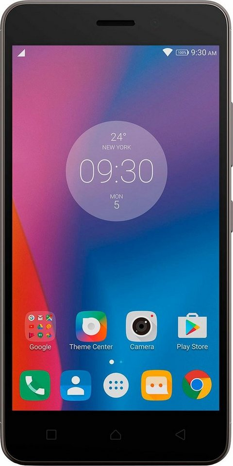 Lenovo K6 Smartphone, 12,7 cm (5 Zoll) Display, LTE (4G), Android 6.0 (Marshmallow), 13,0 Megapixel in grau