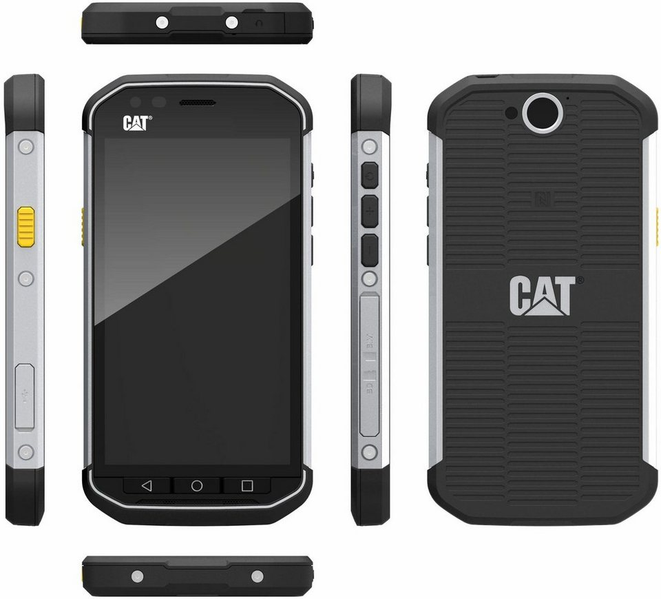 CAT S40 Outdoor-Smartphone, 11,9 cm (4,7 Zoll) Display, LTE (4G), Android 5.1 Lollipop, 8 Megapixel in schwarz/silberfarben