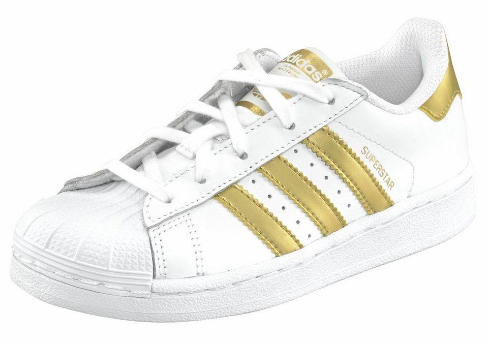 adidas Originals »Superstar J« Sneaker in weiß-goldfarben