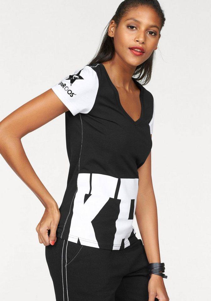 KangaROOS T-Shirt im Monochrom-Look in schwarz-weiß