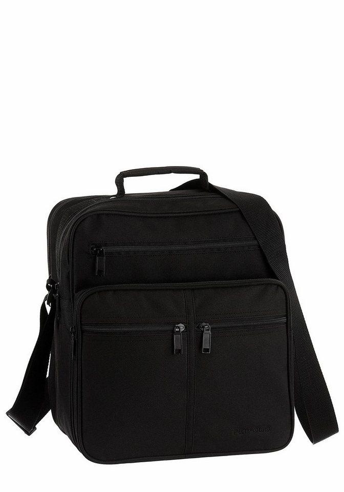 PETROLIO Messenger Bag im praktischen Format in schwarz