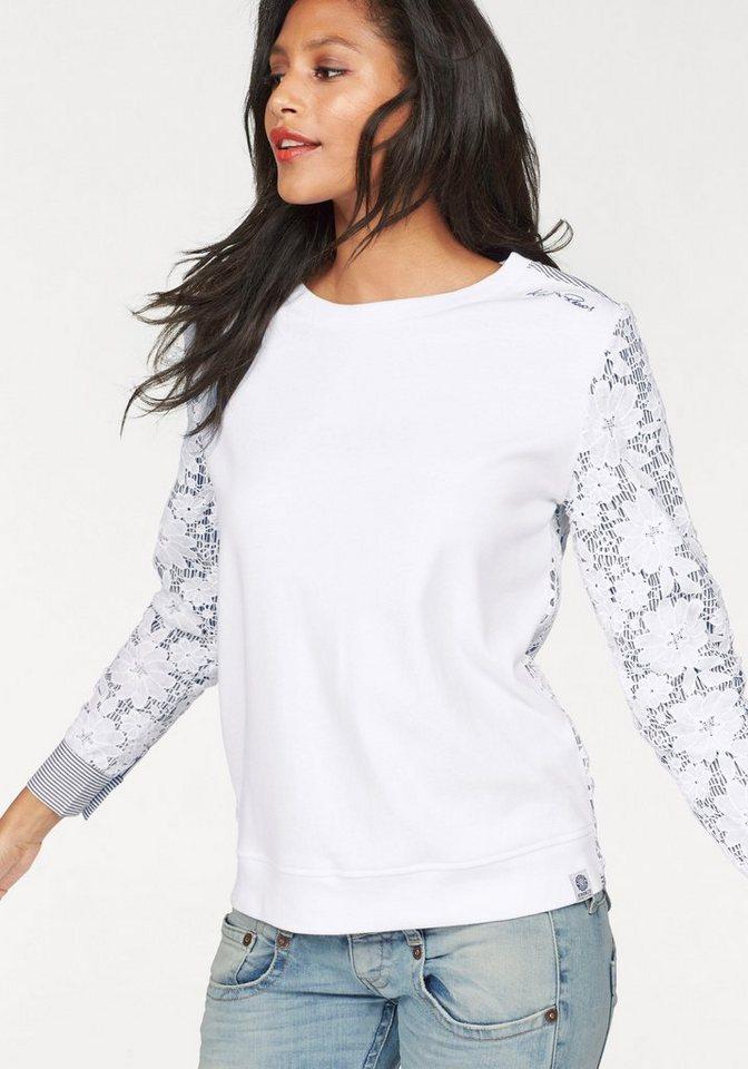 KangaROOS Sweatshirt in weiß-jeansblau