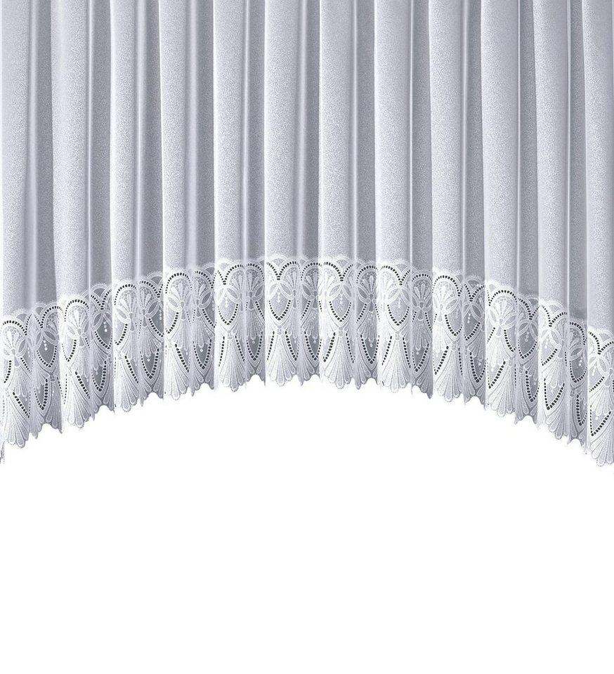 gardine stickereien plauen diana mit kr uselband in c bogen form mit echter plauener. Black Bedroom Furniture Sets. Home Design Ideas