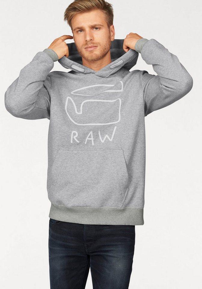 G-Star Kapuzensweatshirt »Brons hooded« in grau-meliert