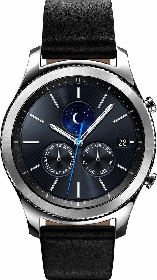 Samsung Gear S3 classic Smartwatch, Tizen, 3,3 cm (1,3 Zoll) Super AMOLED-Touchscreen Display in Silberfarben