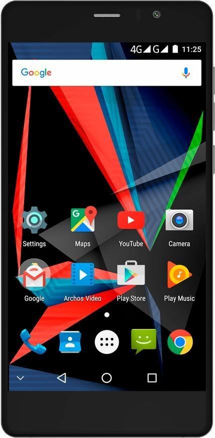 Archos 55 Diamond Selfie Lite Smartphone, 13,97 cm (5,5 Zoll) Display, LTE (4G) in schwarz