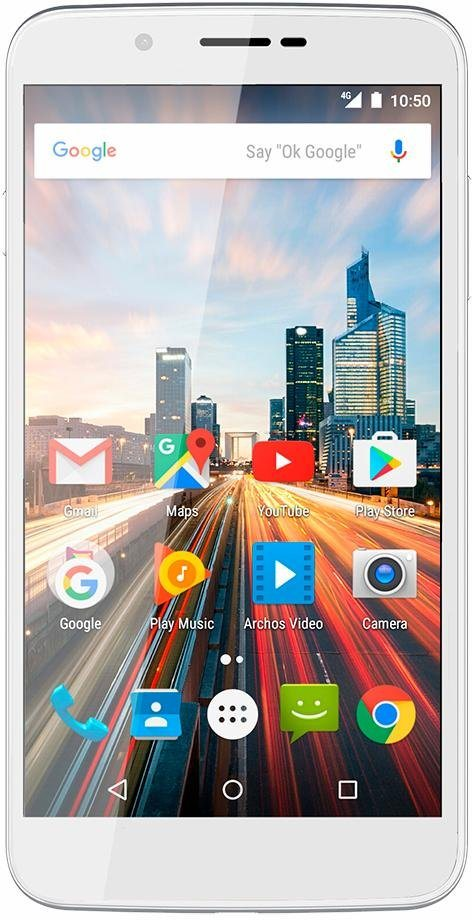 Archos 55 Helium Smartphone, 13,97 cm (5,5 Zoll) Display, LTE (4G), Android 6.0 (Marshmallow) in weiß