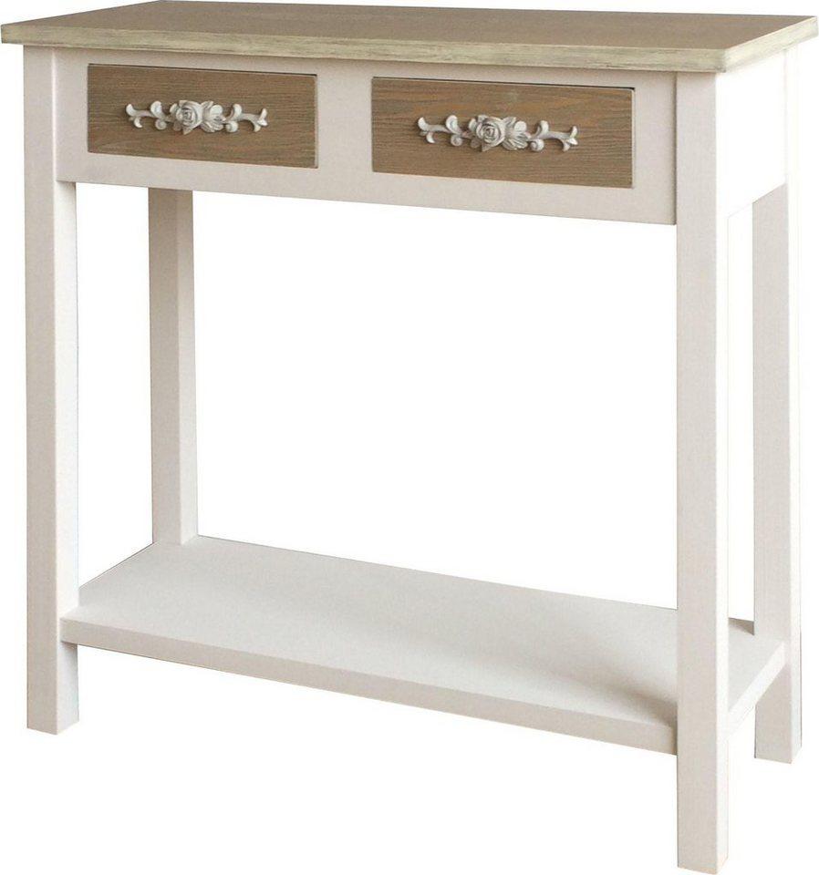 SIT Telefontisch »Forrest«, Breite 80 cm in weiß/hellbraun