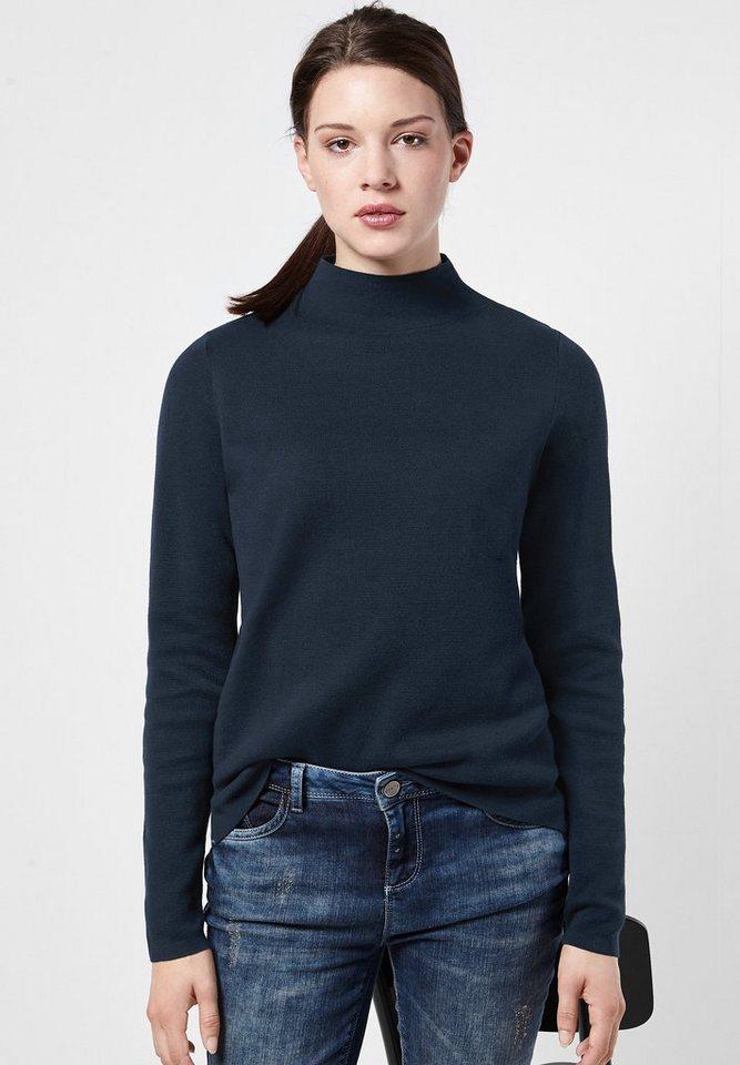 Street One Pullover mit Turtleneck Nele in night blue