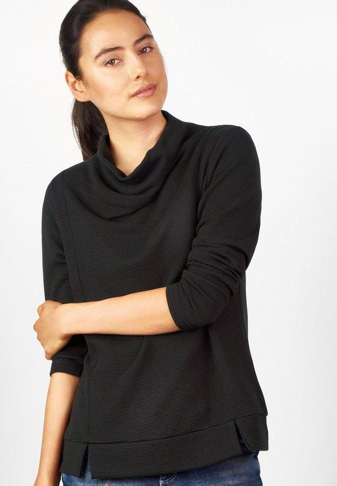 Street One Pullover mit Struktur Julie in black