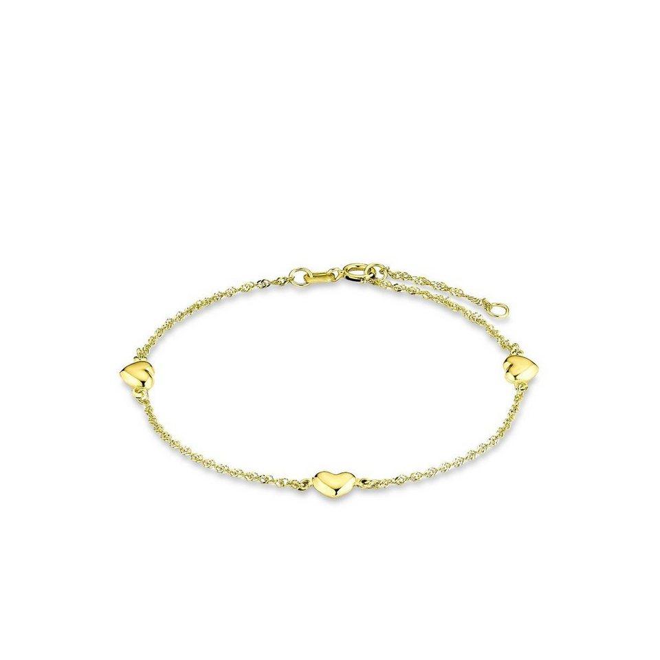 Amor Armband »Herzen, P61/6 39116« in Gelbgold 333
