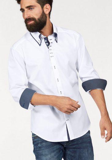 Bruno Banani Businesshemd »Modern-fit« mit doppelten Button-down-Kragen, bügelfrei